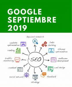 Última actualización de Google Septiembre 2019